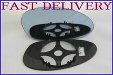 BMW M3 E46 2000-06 DOOR  MIRROR GLASS BLUE TINTED HEATED+ PLATE RIGHT OR LEFT