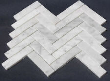 Carrara Marble Mosaic Herringbone Tiles (Herring Bone) ONLY $8.06 Per Sheet