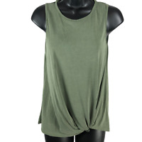 NWT All In Favor Olive Green Sleeveless Top Women's Size XS