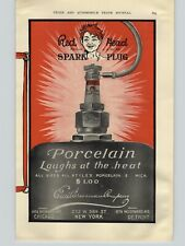 1909 PAPER AD Red Head Spark Plug Plugs Car Auto Automobile