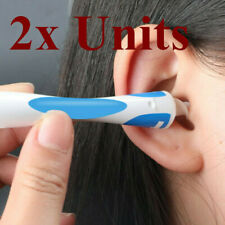 2x Ear Cleaner Wax Removal Remover Spiral Soft Swab pick Tool Set Q-Grips+32pcs