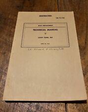 RARE RESTRICTED WW2 BOOK M5 LIGHT TANK TECHNICAL MANUAL TM 9-732 1942 NICEE