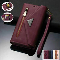 For Samsung S21 Ultra 5G Magnetic Flip Leather Zipper Wallet Case Phone Cover