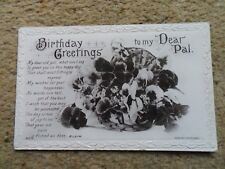 """.J.BEAGLES..POSTCARD.""""BIRTHDAY GREETINGS"""".WRITTEN 1912. NOT POSTED."""