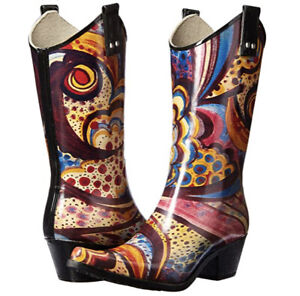 Nomad Yippy Cowboy Rainboot Boot 6 36 Pattern