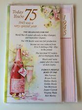 75th Cumpleaños Simon Elvin 2020 año de su nacimiento divertida e interesante tarjeta.