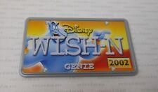 2002 Hasbro Disney Wild Racers GENIE WISH-N Aladdin Diecast Car's License Plate