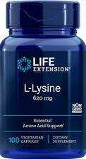 L LYSINE  IMMUNE SUPPORT 100 vegetable  Capsule  620mg   LIFE EXTENSION