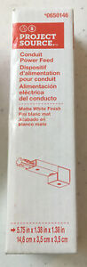 PROJECT SOURCE Conduit Power Feed Connector Matte White # 0650146