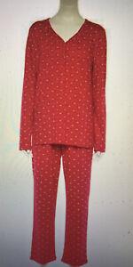 NWT Women 2 pc Croft & Barrow Pajama Set RED w/ HEARTS ~ Size  1X