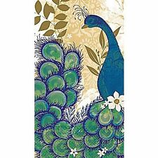 2 Pkgs. 16 Count DISPOSABLE Paper GUEST TOWELS ~ Peacock Blue ~ USA Made  SALE!
