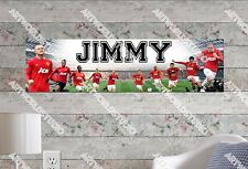 Personalized/Customized Manchester United CF Name Poster Wall Decoration Banner