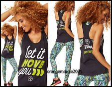 ZUMBA 3Pc.SET! Instructor Loose Tank Let It Move You + Bra Top +Voltage Leggings