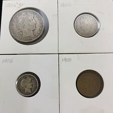 1906 US Coin Year Set 4 Coins