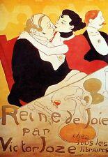 Art Poster Reine De Joie par Victor Joze Deco Bar Print