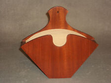 Handcrafted Book Matched Mahogany Coffee Filter Holder for Melitta #4
