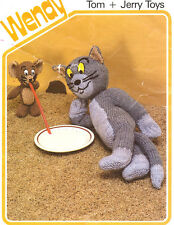 Vintage Knitting Pattern For Toy Tom & Jerry