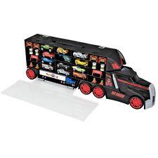 Large MACK TRUCK Auto Hauler CARRIER Carrying Case + 14 Cars Set Kids 18 Wheeler