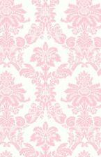 Wallpaper Designer Light Pink Damask on Off White