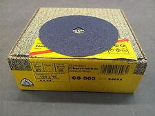 """Klingspor CS565  Fibre Discs 100x16mm Grit 60 - Box of 25 (4"""")"""