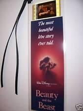 BEAUTY & THE BEAST Disney rare Movie Film Cell Bookmark