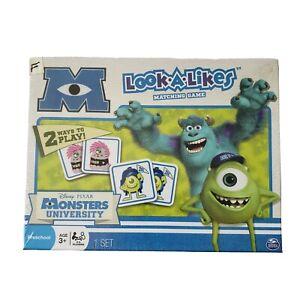 Disney Pixar Monsters Univ Look A Likes Matching Game NIB Age 3+