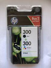 Genuine Original HP 300 Black & Tri-Colour Ink Cartridges CN637EE Combo Pack