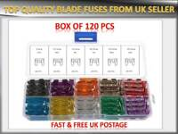 120PCS VAUXHALL AUTO MINI BLADE ASSORTMENT FUSES BOX 5 10 15 20 25 30 AMP