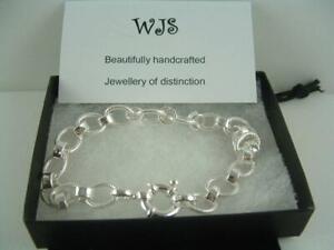 925 Sterling Silver Bracelet chain 19cm hallmarked.