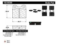 Disc Brake Pad Set-C-TEK Metallic Brake Pads Rear,Front Centric 102.00300