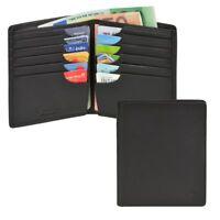 Esquire Herrenbörse Leder schwarz 16 Kartenfächer ohne Münzfach