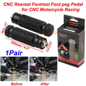 A Pair CNC Motorcycle Rearsets Footrests Footpeg Foot Rest Pegs Pedals Racing