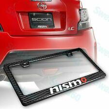 100% Real Carbon Fiber License Plate Frame W/ Caps Screws-1PC For NISSAN NISMO
