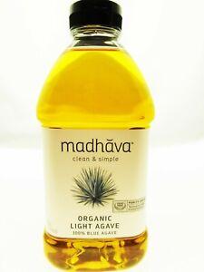 100% Blue Agave Sweetener ~ Organic Non-GMO ~ Golden Light ~ 46oz Bottle