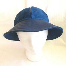 "Vintage WAPITI Leather Bucket Hat Genuine New Zealand NZ Suede J.J. ""Good Times"""