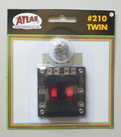 TWIN REVERSING SWITCHES HO N SCALE ATLAS 210 TRAIN TRACKS LAYOUT
