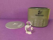 SWAROVSKI Silver Crystal Mini Duck Stand 7666 NR 32 MINT w/ Container & COA