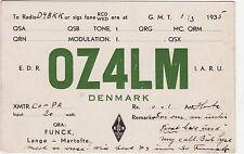 QSL Card DENMARK 1935 Funk Karte Radio OZ4LM   ( 80369