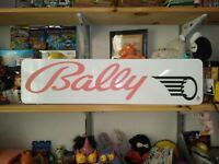 "Bally Sign, 6"" x 24"" Bally Pinball Aluminum Display!"