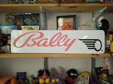 "Bally Sign, 6"" x 24"" Bally Pinball Aluminum Display!"