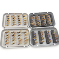 40pcs/box Brown NYmph Trout Flies Fishing Fly Dry Wet Hook Buzzers Fishing Lure