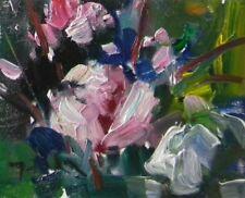 JOSE TRUJILLO - ORIGINAL Oil Painting Modern FLOWERS Expressionism MODERNISM