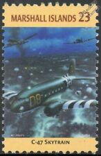 WWII DOUGLAS DAKOTA / C-47 Skytrain Transport Aircraft Stamp (Marshall Islands)