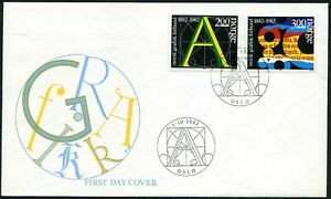 Norway 812-813,FDC.Michel 872-873. Graphical Union of Norway,centenary,1982.