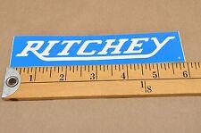Vintage Ritchey Bicycle Blue Sticker Decal CJ