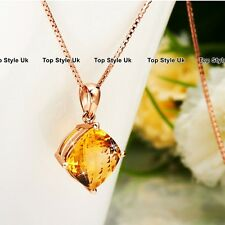 Girls Gifts for Her Citrine Crystal Necklace for Women Girlfriend Mum Wife J509A
