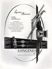 ▬► PUBLICITE ADVERTISING AD Montre Watch LONGINES 1957