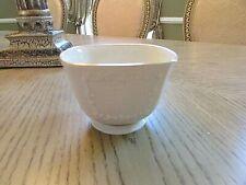 "Lenox Bone China Cantebury Square Nut Bowl Gold Rim Top & Bottom 2-7/8""H"