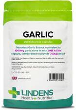 Garlic 1000mg Odourless high strength (200 soft gel oil capsules) [1561]