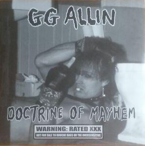 GG Allin's Doctrine Of Mayhem LP Black & Blue Records 1997 pressing 2020 jackets